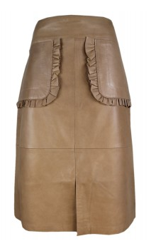 Caroline Biss Leather Skirt Yente