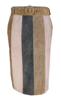 Caroline Biss Leather Skirt Viola
