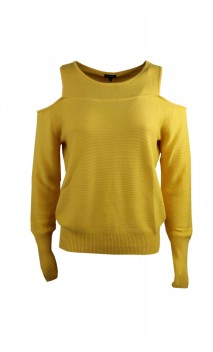 Caroline Biss sweater with open shoulders