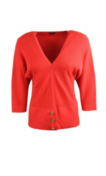 Caroline Biss cardigan with three gold colored buttons