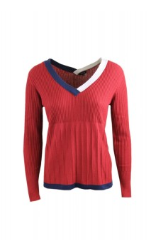 Caroline Biss sweater with various knit