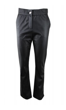 Caroline Biss leather look pants with flaired leg