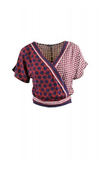 Caroline Biss short blouse with tie band