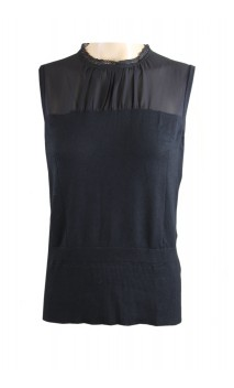 Punto Roma black sweater with transparant top